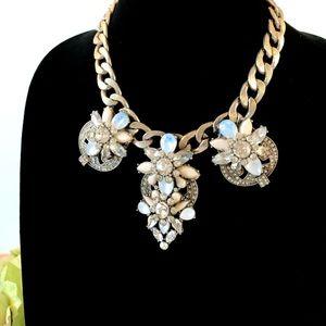 J. CREW ornate opal choker/statement necklace NWT
